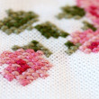 Cross Stitching Sample — Stock Photo