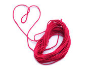 Heart Made of Mouline Threads — Stock Photo