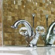 Stock Photo: Modern bathroom chrome faucet