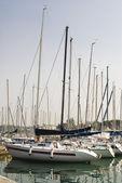 Yachts at berth — Stock Photo