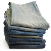 Blue jeans isolated on white — Stock Photo