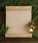 Vánoční ozdoby na dřevěné pozadí — Stock fotografie
