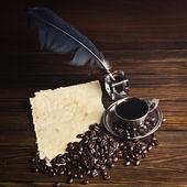 Korn och kopp kaffe — Stockfoto