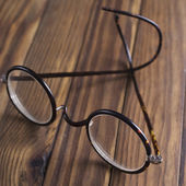 Antique XIX century glasses in selective focus — Stockfoto