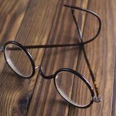 Antique XIX century glasses in selective focus — Stock Photo