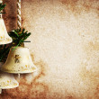 Vintage paper textures with bells — Stock Photo