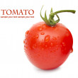 Close-up photo of tomatoes with water drops — Stock Photo #34931181
