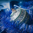 Blue christmas ball — Stock Photo #34980101
