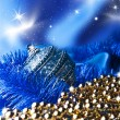Blue christmas ball — Stock Photo #34980147