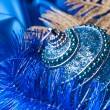 Blue christmas ball — Stock Photo #34980235