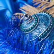 Blue christmas ball — Stock Photo
