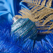 Blue christmas ball — Stock Photo #34980303