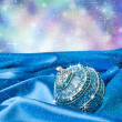 Blue christmas ball — Stock Photo #34980319