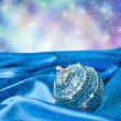 Stock Photo: Blue christmas ball