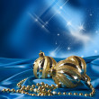 Golden christmas ball — Stock Photo #34980383