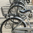 City Hire Bicycles Parked In Row — Stock Photo #35392351