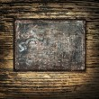 Metal template on a Grunge Background — Stockfoto