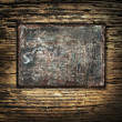 Metal template on a Grunge Background — Stock Photo