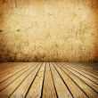 Empty room with wall and wooden floor interior background — ストック写真