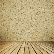 Empty room with wall and wooden floor interior background — Stock Photo