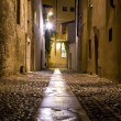 Night Street in the Old Town — Stock Photo