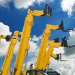 Lift trucks — Stockfoto