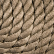 Twisted rope. Equipment on board sailing ship — Stock Photo