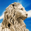 Marble sculpture of lion — Stock Photo
