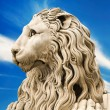 Marble sculpture of lion — Stock Photo #35392977