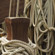 Rigging of sailing vessel — Stock Photo