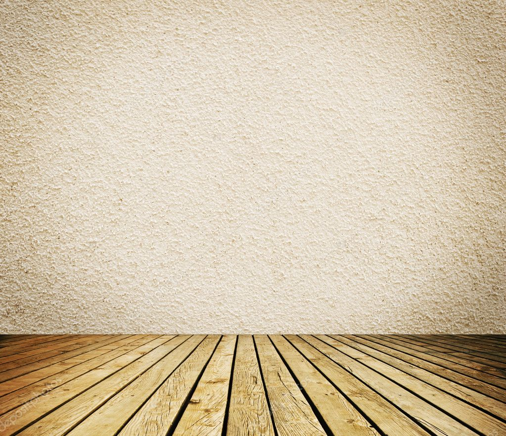Room Background: Empty Room With White Wall And Wooden Floor Interior