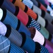 Colorful italian ties in soft focus — Stock Photo #35404675
