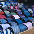 Colorful italian ties in soft focus — Stock Photo #35404695