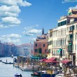 Beautiful view of famous Canal Grande  in Venice, Italy — Stock Photo