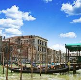 Góndolas en venecia, italia — Foto de Stock
