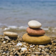 Zen Stones on the beach — Stock Photo