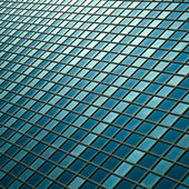 Facade - shapes from a modern building, with structural lines reflection — Stock Photo