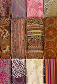 Colorful scarves at arabian market, Israel — Stock Photo