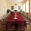 Elegantly designed banquet hall — Stock Photo