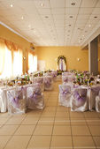 Table set for an event party or wedding reception — Stock Photo