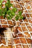 Closeup shot of a baked chicken — Stock Photo