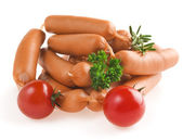 Heap of sausages — Stock Photo