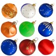 Set of colorful Christmas balls isolated on white background — Stock Photo #36899593