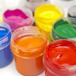 Paint buckets in soft focus — Stock Photo #36946795