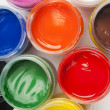 Paint buckets in soft focus — Stock Photo #36946839