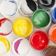 Paint buckets in soft focus — Stock Photo #36946843
