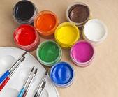 Secchi di vernice — Foto Stock