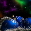 Christmas ball on abstract light background — Stock Photo