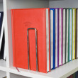 Close-up of a few colored books (notebooks, diaries). — Стоковое фото