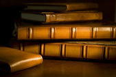 Vintage books (selective focus) — 图库照片